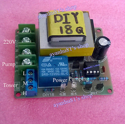 AC 220V Auto Liquid Level Controller Switch Water Level Detection Sensor Module