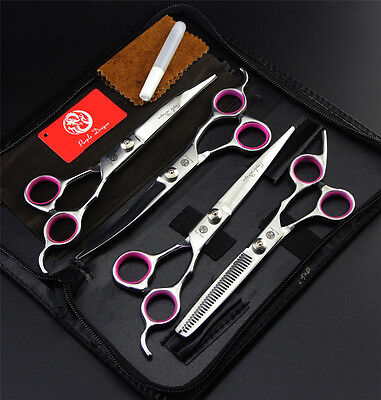 "7"" Professional Pet Dog Grooming Scissors Set Cutting&Curved&Thinning Shears Kit"