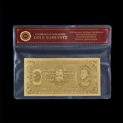 Hungary 5 Pengo Banknote 24k Gold 1926 Edition Collectible Bank Note In COA Case