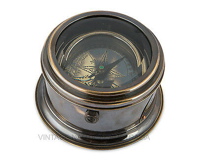 Compass - Brass Drum, Royal Navy London camping essential