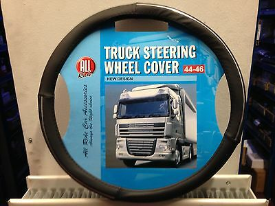 Black Design Steering Wheel Cover Medium 44-46 Lorry Truck Bus Coach TA-36254