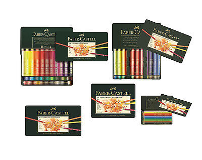Faber Castell polychromos pencils tins of 12 24 36 60 and 120 - Genuine