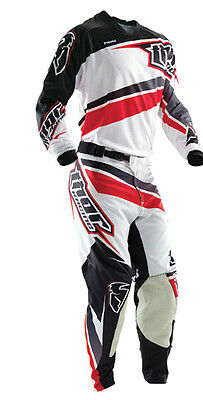 Completo Thor Phase Prime Slice Red White Taglia 32/48 E L Cross Enduro