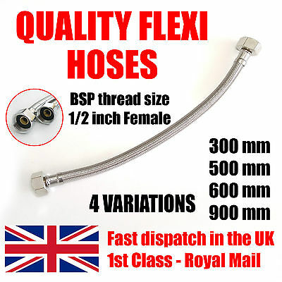 "1 * 1/2"" x 1/2"" BSP Fitting Basin Monobloc Tap Connector Flexi Hose Pipes Tail."