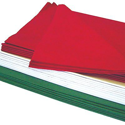 Christmas Tissue Paper 60 Large Sheet Red Green White Festive Wrapping Acid Free