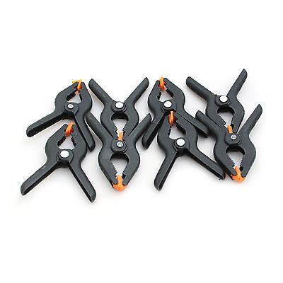 Heavy Duty Plastic Spring Clamp Set Craft DIY Woodworking Micro Grip Clips