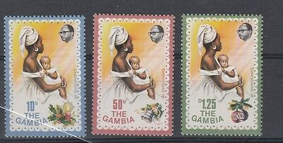 Gambia  1973 agricoltura 279-81 MNH
