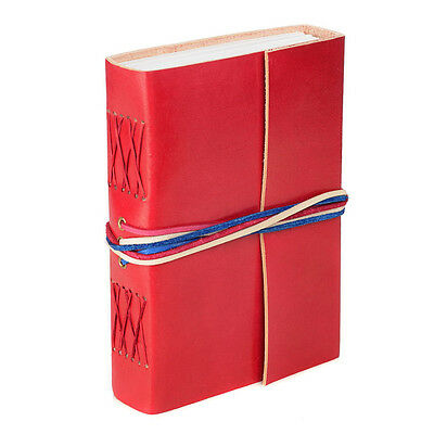 Fair Trade Handmade Leather 3-string Red Leather Journal - 2nd Quality