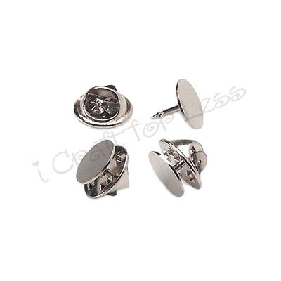 100 Tie Tacks Blank Pins with Clutch Back - Lapel / Scatter Pin
