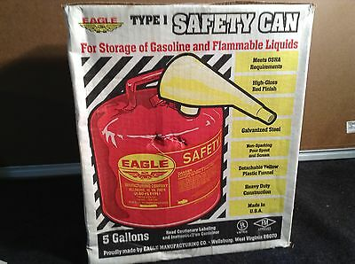 Eagle Ui-50-Fs Type 1 5 Gallon Safety Can 91768
