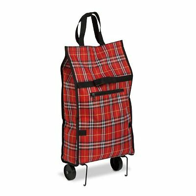 Honey-Can-Do CRT-02224 Fold-Up Fabric Rolling Bag Cart with Handles, Holds up to