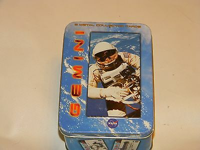 Gemini Metal Collectible 5 Card Set from 1996. NASA Collectible