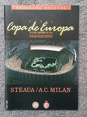 1989 - EUROPEAN CUP FINAL PROGRAMME - STEAUA v AC MILAN - Great Condition