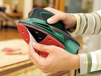 Bosch PSM 100 A Electric Multi Sander with Sanding Sheets & Case 100w 240v