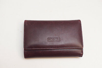 Romagna by Bosca Calfskin Wallet Billfold Card Document Purple leather