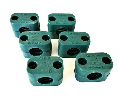 Gr 1130005237 Pack of 2 2 Green - 212.7-PP : Stauff Plastic Clamp Set