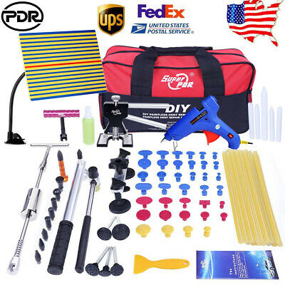 PDR Dent Lifter Slide Hammer Puller Paintless Hail Repair Tool Kits Bag Glue Gun