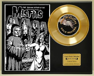 Misfits - 24k Gold Record & Rare Limited Edition Concert Poster USA Ships Free