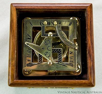Sundial Compass - Dolland London Square Vintage Antique (Rosewood Box)