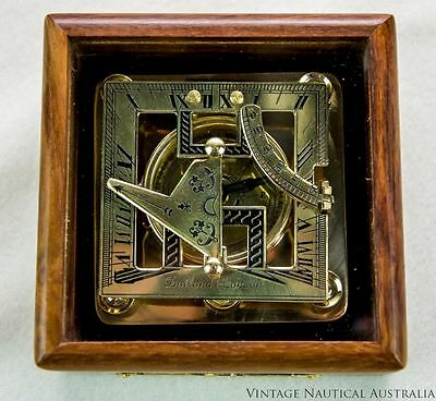 Sundial Compass - Dollond London Square Vintage Antique camping essential