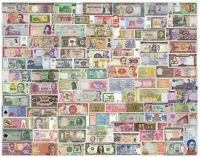 World Lot 100 Different Banknotes 100 Countries Genuine Paper Money Notes UNC