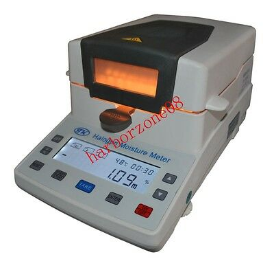 Halogen Moisture Meter Feed Tobacco grain Chemicals Tester XY-102W 110g/2mg