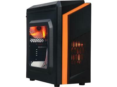 DIYPC  DIY-F2-O Black/Orange USB 3.0 Micro-ATX Mini Tower Gaming Computer Case w