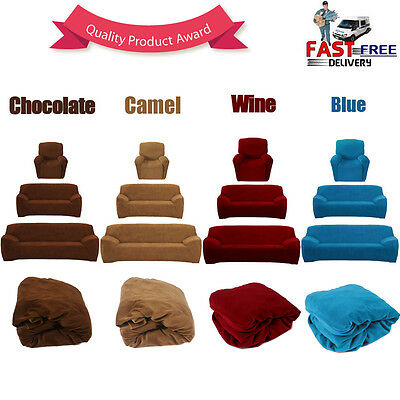 Easy Fit Sofa Couch Slip Covers Loveseat Recliner Lounge Protector 1 2 3 Seater
