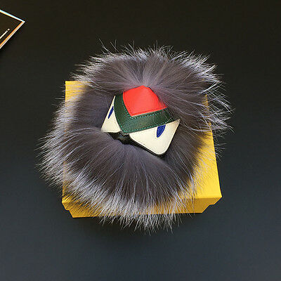 Fur Monster Pom Doll Ball Car Key Ring Chain Pendant Hand Bag Phone Accessories
