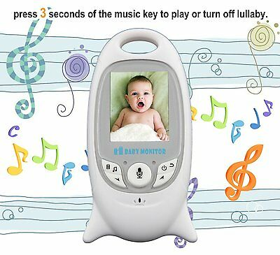 "2.0"" Audio Video Baby Monitor Wireless Camera Night Vision Safety Viewer AU"