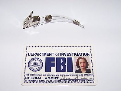 Agent Dana Scully ID - Karte aus der Serie Akte X , ID Badge , Special Agent , W