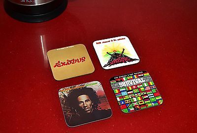 Bob Marley Awesome Exodus Wailers Dread Wooden Coaster Set