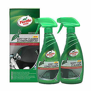 Turtle Wax Soft Top Cabriolet System Fabric Hood Roof Cleaner & Conditioner