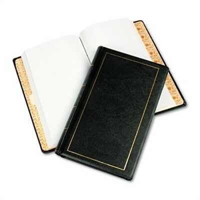 Looseleaf Minute Book, Black Leather-Like Cover, 125 Pages, 8 1/2 x 14