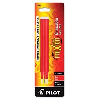 Refill for FriXion Erasable Gel Ink Pen, Red, 3/Pk