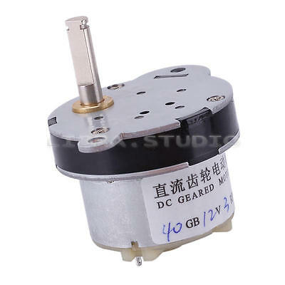 DC 12V 3RPM 40mm Gear Motor Speed Reducer High Torque Box Gearbox Electric Toy