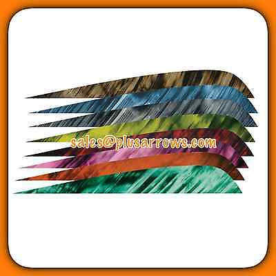 "4"" Right Wing Tre Colour Feathers for Archery Arrows Traditional Longbow Recurve"