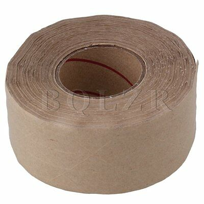 50m x 48mm Water Activated Reinforced Kraft Paper Gummed Tape For Carton Brown