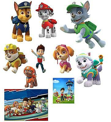 10 Paw Patrol Vinyl Wall Stickers 3 Sizes A6 A5 A4
