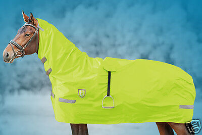 Hi-Vis Ride-On Flourescent Combo Waterproof Rain Sheet All Sizes