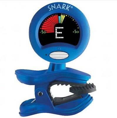 Snark SN-1 Chromatic Blue Tuner for Guitar Bass Violin Ukulele Banjo Clip On