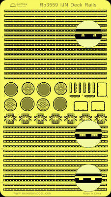 Rainbow PE 1/350 IJN Deck Rails (for aircraft, torpedo & depth charges) RB3559