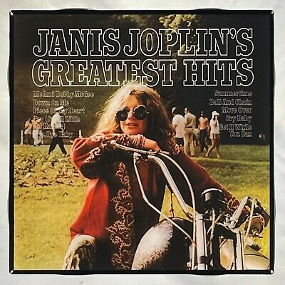 JANIS JOPLIN Greatest Hits Record Cover Art Ceramic Tile Coaster