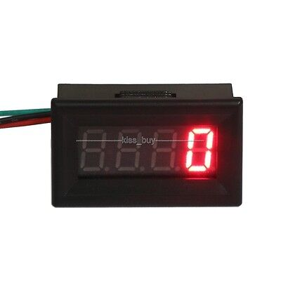 Digital LED Engine Motor Tachometer RPM Speed Measure Tester Meter 12v 24v red