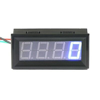 Digital LED Engine Tachometer 60-9999 RPM Speed Gauge Tester Meter 12v 24v BLUE