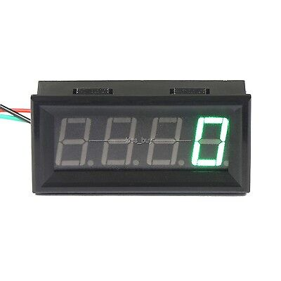 Digital LED Engine Tachometer 60-9999 RPM Speed Gauge Tester Meter 12v 24v GREEN