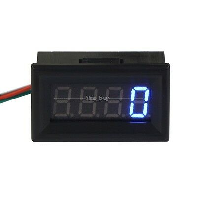 Digital LED Engine Motor Tachometer RPM Speed Measure Tester Meter 12v 24v blue