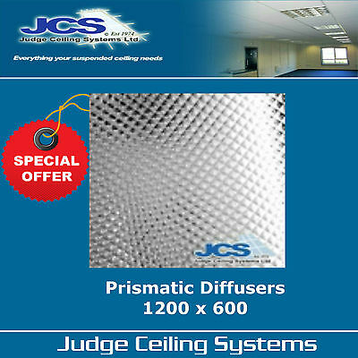 Prismatic Diffusers Clear 1200 x 600mm. Suspended Ceilings. Box of 5