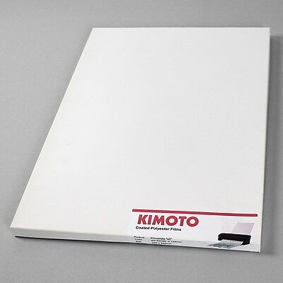 100 x KIMOTO Kimoplate e2 Coated Polyester Films KP-5s088 230 x 340 mm