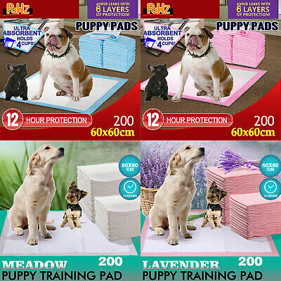 200pcs 60x60cm Puppy Pet Dog Indoor Cat Toilet Training Pads Absorbent